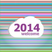 Seamless Abstract Pattern Background With Welcome 2014 Words
