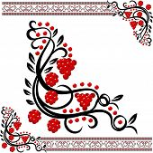 Traditional ukrainian pattern with guelder-rose