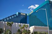 The MGM Grand Hotel, as seen from the street