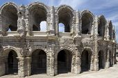 picture of southern  - The Arles Amphitheatre is a Roman amphitheatre in the southern France - JPG