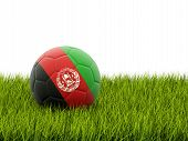 Football With Flag Of Afghanistan