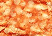 Fondo de San Valentín grunge decorativo con corazones