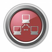 image of vpn  - Icon Button Pictogram Image Illustration with Network symbol - JPG