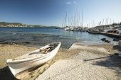 SYROS, GREECE - APR 30, 2014: Marina of Syros, is a Greek island in the Cyclades archipelago in the