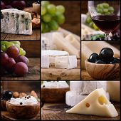 Cheese And Wine Collage