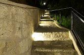 night Park stairs