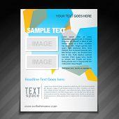 vector stylish brochure template design