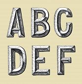 Hand Draw Sketch Alphabet Design