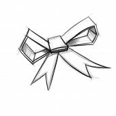 Bow isolated on white.