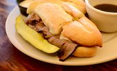 Hot French Dip Sandwich