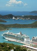 Royal Caribbean Cruise Ship In St Thomas, USVI