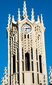 Clock tower of the Auckland University - Old Arts Building was founded in 1926. This university is the largest one in New Zealand