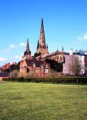 Cathedral, Lichfield, England.