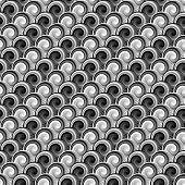 Design Seamless Monochrome Whirlpool Diagonal Pattern