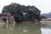 hakka tulou located in fujian zhangzhou, china
