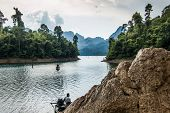 Boatmen waiting for passengers, Khao Sok National Park
