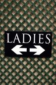 WC sign. Ladies toilet sign