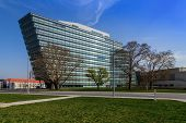 Vienna, Austria - March 30, 2014:  Main Building Of Siemens Ag Austrian Company Headquarter. Siemens