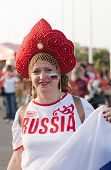 The hockey fan from Russia