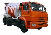 Modern Orange Mixer Truck
