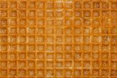 Waffle Yellow Background