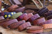 Store handmade  leather belts, spanish medieval fair