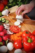 Chef Cuts Onion