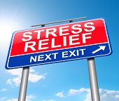 image of stress relief  - Illustration depicting a sign with a stress relief concept - JPG