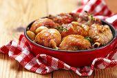 Roasted chicken with garlic