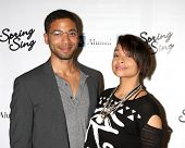 LOS ANGELES - MAY 16:  Jussie Smollett, Raven-Symone at the UCLA's Spring Sing 2014 at Pauley Pavili