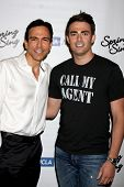 LOS ANGELES - MAY 16:  Bill Dorfman, Jonathan Bennett_ at the UCLA's Spring Sing 2014 at Pauley Pavi