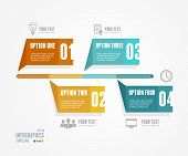 Vector Timeline Infographic. Retro style.