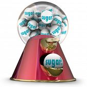 Sugar word gum balls candy dispenser gumball machine