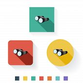Binocular Flat Icon Design