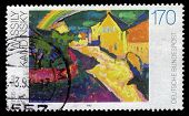 Rainbow In Murnau, Painting By Wassily Kandinsky