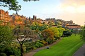 Edinburgh scene at sunset