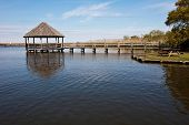 pic of whalehead club  - The gazebo over the water is a popular attraction at Heritage park in historic Corolla - JPG
