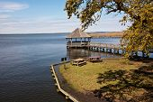 picture of whalehead club  - The gazebo on the Currituck Sound at the Whalehead Club in Corolla - JPG