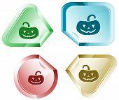 Pumpkin. Vector sticker.