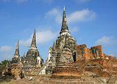 Wat Phra Si Sanphet, Ayutthaya, Thailand