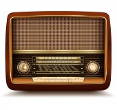 Radio retro, realistic vector illustration.