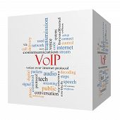 Voip 3D Cube Word Cloud Concept