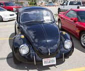 Black Vw Beetle Front View