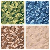 stock photo of camouflage  - Seamless digital terrain camouflage pattern - JPG
