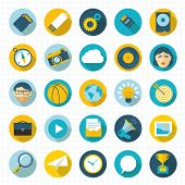 Flat design vector icon set.