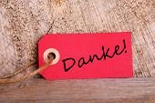 Red Tag With Danke