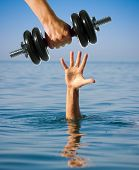 Giving dumbbell to sinking man instead of help. Making worse concept.