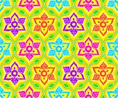 Seamless floral indian Rangoli pattern
