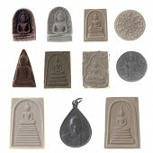 Many Buddha Statue Of Local Amulets.