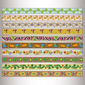 stock photo of tatar  - Ribbon motif Tatar ornament  - JPG